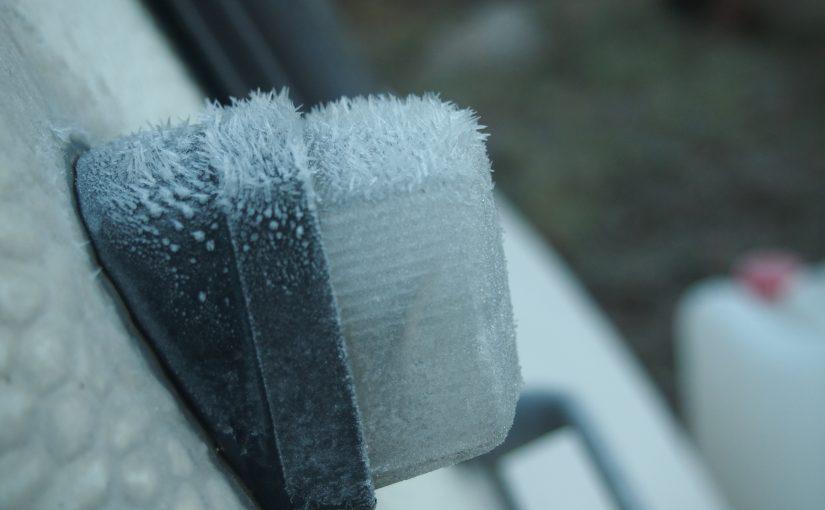 Wohnwagen gefroren