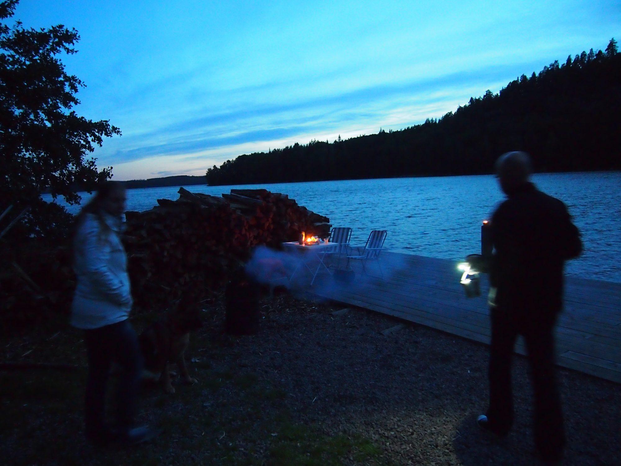 Abendessen am Sommen See