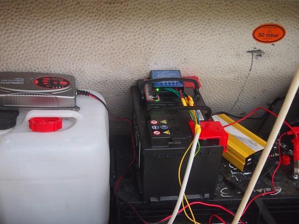 Batterien im Wohnwagen